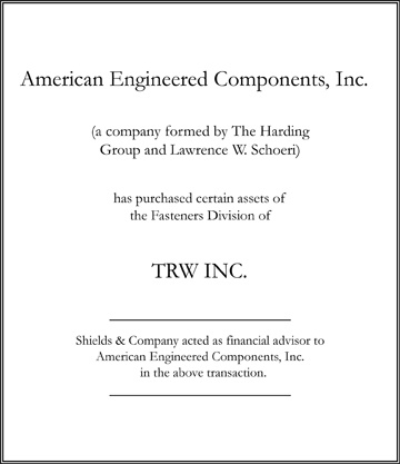 The Harding Group niche manufacturing