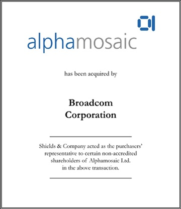 Alphamosaic Limited healthcare transactions