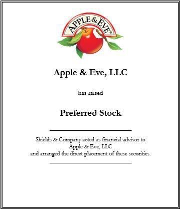 apple & eve preferred stock