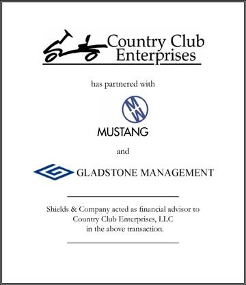 Country Club Enterprises Shields & Company Transaction