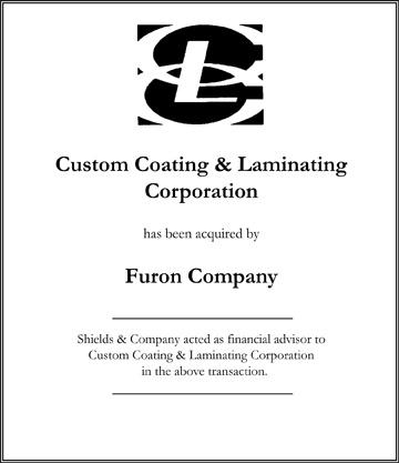 Custom Coating & Laminating Corporation niche manufacturing