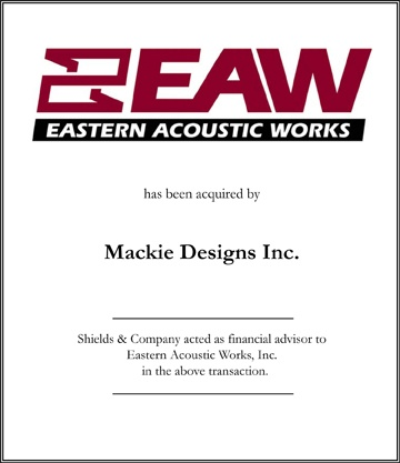 Eastern Acoustic Works niche manufacturing