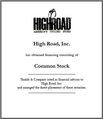 high road inc.