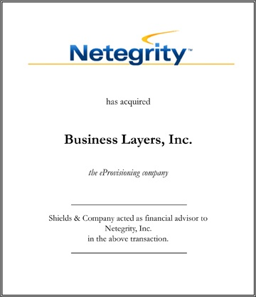Netegrity transactions