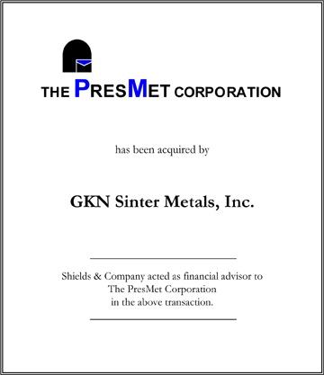 PresMet Corporation