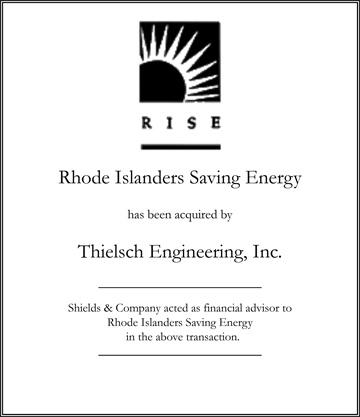 Rhode Islanders Saving Energy (RISE) transactions