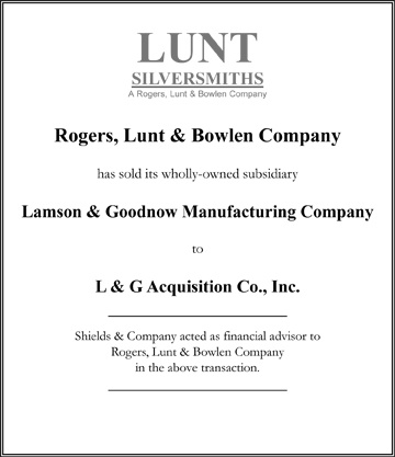 Rogers, Lunt & Bowlen niche manufacturing
