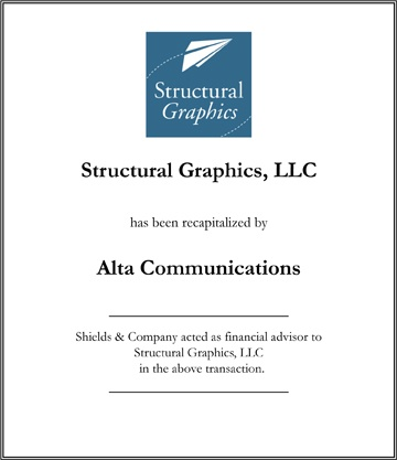 Structural Graphics Shields & Company Transaction