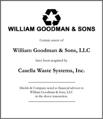 William Goldman & Sons transactions