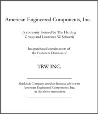 American Engineered Components.