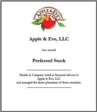 Apple & Eve. apple-eve-preferred-stock.jpg