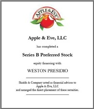 Apple & Eve. apple-eve-weston-presidio-cap-raise.jpg