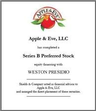 Apple & Eve. apple-eve-weston-presidio-cap-raise.jpg