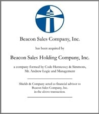 Beacon Sales Holding Company, Inc..