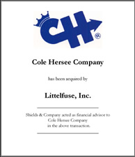 Cole Hersee Company.