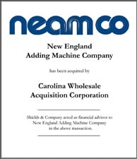New England Adding Machine Company.