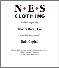 NES Clothing Company.