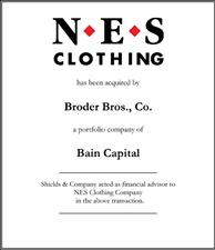 NES Clothing Company.
