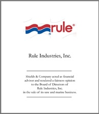 Rule Industries.